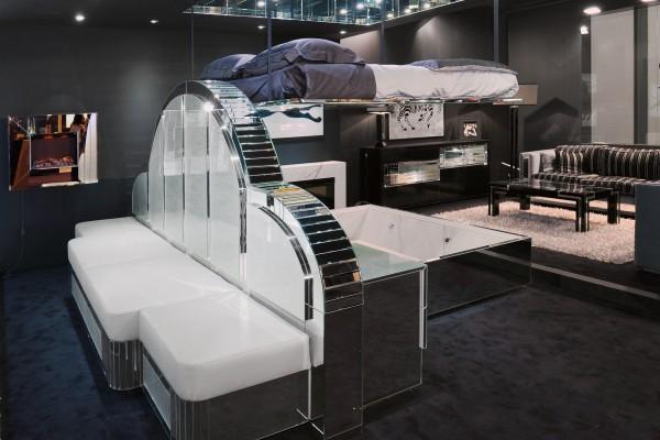 Arredamento a specchi con soluzione di letto a scomparsa Bed Up Down