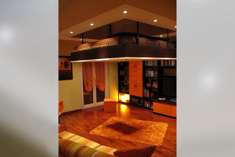 false ceiling: disappearing bed